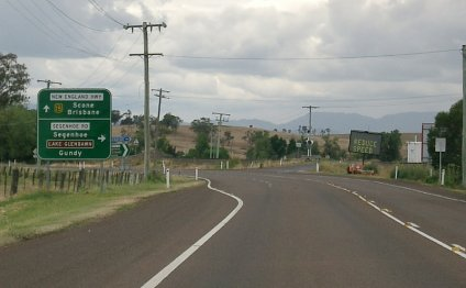 New England Highway as it