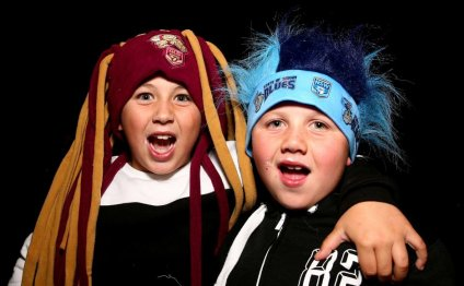 State of Origin fans show