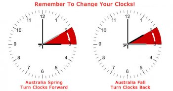 Australian Continent modification clocks for 2015 daylight saving time