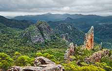 Breadknife and Grand tall Tops, Warrumbungle National Park