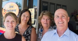 Some of the helpful staff at Tursa Training & Employment Mullumbimby